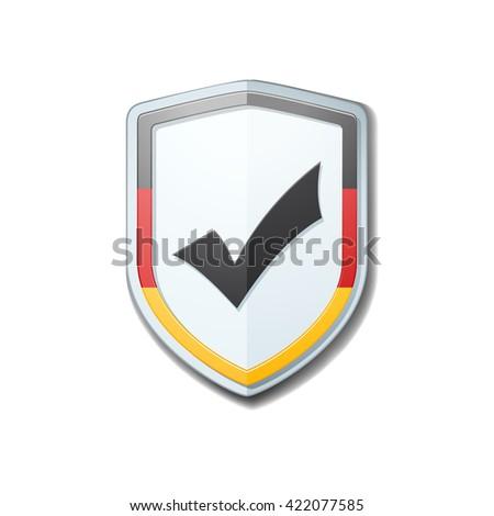 Germany Checkmark shield sign - stock photo