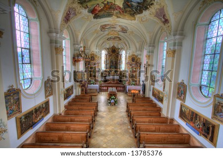 "Germany - Church in ""wilparting"" - interior"