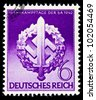 GERMANY - CIRCA 1942: A postage stamp printed in Germany shows the Swastika of the German Reich, circa 1942 - stock photo