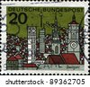 GERMANY -CIRCA 1964: A stamp priner in Federal Republic of Germany  shows Stuttgart is the capital of the state of Baden-Wurttemberg in southern Germany, circa 1964 - stock photo