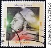 GERMANY- CIRCA 1996: A stamp printed by Germany, shows Martin Luther, circa 1996. - stock photo
