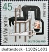 GERMANY - CIRCA 2007: A stamp printed in germany dedicated to Karl Valentin, circa 2007 - stock photo