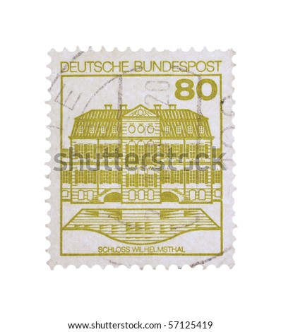 GERMANY - CIRCA 1987: A stamp printed in Germany showing Wilhelmstal school, circa 1987