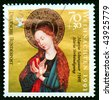 Germany - CIRCA 1991: A stamp printed in Germany shows Christmas scene - Mother of God with child, circa 1991 - stock photo