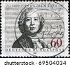 GERMANY - CIRCA 1987: A stamp printed in Germany shows  Christoph Willibald Gluck, circa 1987 - stock photo