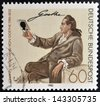 GERMANY - CIRCA 1982: a stamp printed in Germany shows Johann Wolfgang von Goethe, Writer and Natural Philosopher, circa 1982 - stock photo