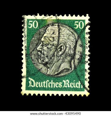 GERMANY-CIRCA 1936: a stamp printed in the German Reich depicting the portrait of Otto von Bismarck, circa 1936
