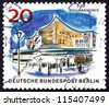 GERMANY - CIRCA 1965: a stamp printed in the Germany, Berlin shows Philharmonic Hall, circa 1965 - stock photo