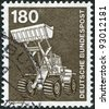 GERMANY - CIRCA 1978: A stamp printed in the Germany, is shown Payloader, circa 1978 - stock photo