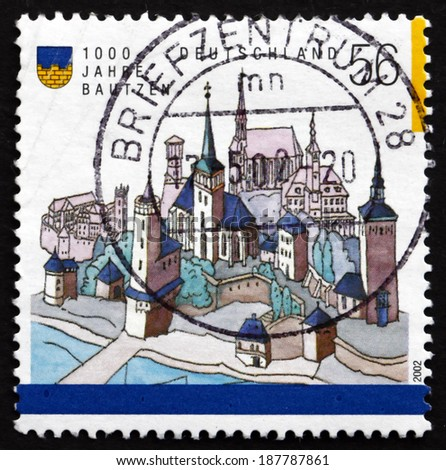 GERMANY - CIRCA 2002: a stamp printed in the Germany shows Bautzen, Town in Eastern Saxony, 1000th Anniversary, circa 2002