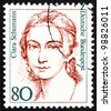 GERMANY - CIRCA 1986: A stamp printed in the Germany shows Clara Schumann, Pianist, Composer, circa 1986 - stock photo
