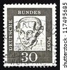 GERMANY - CIRCA 1961: a stamp printed in the Germany shows Immanuel Kant, philosopher, circa 1961 - stock photo