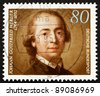 GERMANY - CIRCA 1994: A stamp printed in the Germany shows Johann Gottfried Herder, Theologian, circa 1994 - stock photo