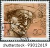 GERMANY - CIRCA 1978: A stamp printed in the Germany, shows Nobel Prize winner for literature Hermann Hesse, circa 1978 - stock photo