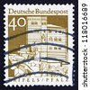 GERMANY - CIRCA 1967: a stamp printed in the Germany shows Trifels Fortress, Palatinate, Pfalz, circa 1967 - stock photo