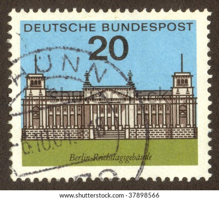 GERMANY -CIRCA 1964: Berlin is the capital city and one of sixteen states of Germany, circa 1964.