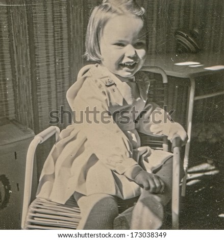 GERMANY, CIRCA FIFTIES - Vintage photo of little girl