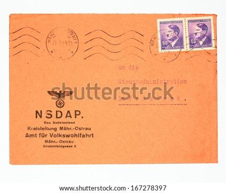 Germany Circa 1944 Real Envelope World Stock Photo Royalty Free