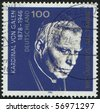 GERMANY- CIRCA 1996: stamp printed by Germany, shows August Cardinal Graf von Galen, circa 1996. - stock photo