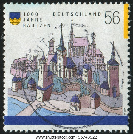 GERMANY- CIRCA 2002: stamp printed by Germany, shows castle Bautzen, circa 2002.