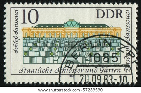 GERMANY- CIRCA 1983: stamp printed by Germany, shows Governmental Palaces, Potsdam Gardens, circa 1983.