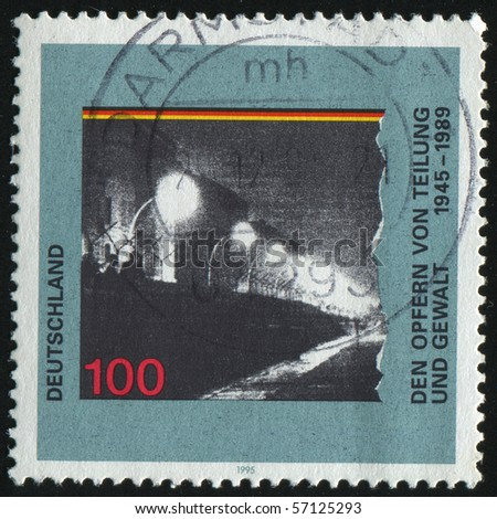 GERMANY- CIRCA 1995: stamp printed by Germany, shows Victims of a Divided Germany, circa 1995.