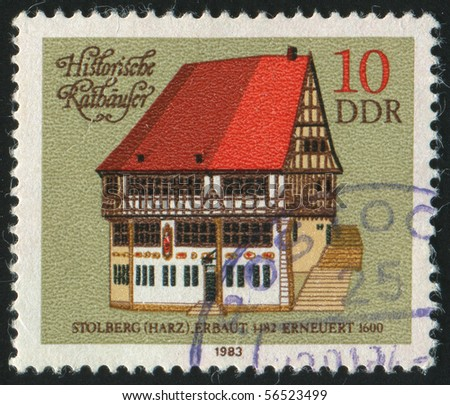GERMANY - CIRCA 1983: stamp printed in Germany, shows     Historic City Halls. Stolberg, circa 1983.
