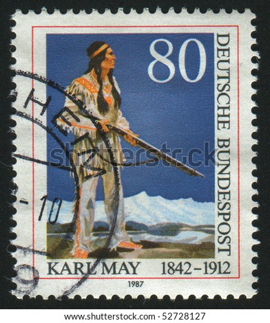 GERMANY  - CIRCA 1987: stamp printed in Germany, shows indian, circa 1987.
