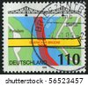 GERMANY - CIRCA 1998: stamp printed in Germany, shows map and bridge, circa 1998. - stock photo