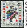 GERMANY  - CIRCA 1986: stamp printed in Germany, shows queen, circa 1986. - stock photo