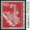 GERMANY- CIRCA 1978: stamp printed in Germany, shows X-ray machine, circa 1978. - stock photo
