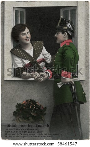 stock-photo-germany-circa-vintage-postca