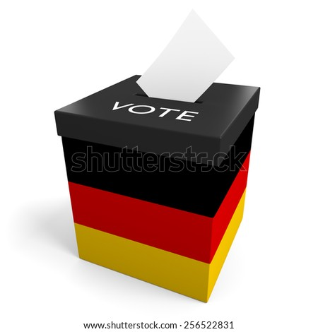 Germany election ballot box for collecting votes - stock photo