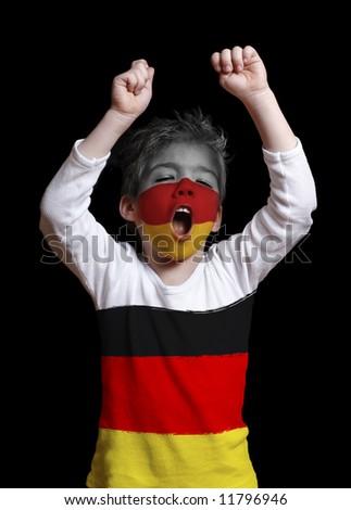 Germany fan close up - stock photo