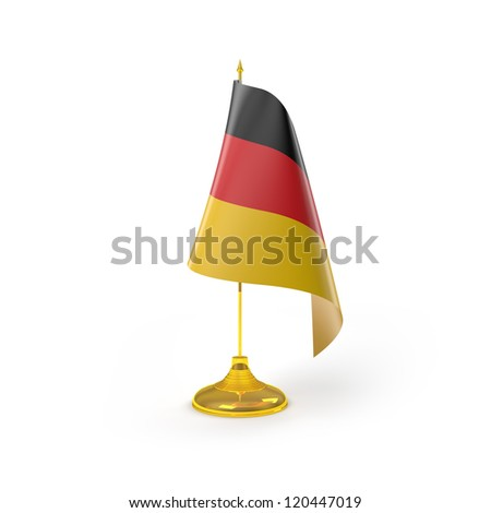 Germany Flag Detailed Render - stock photo