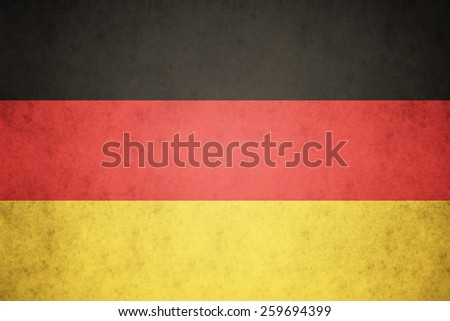 Germany flag on concrete textured background