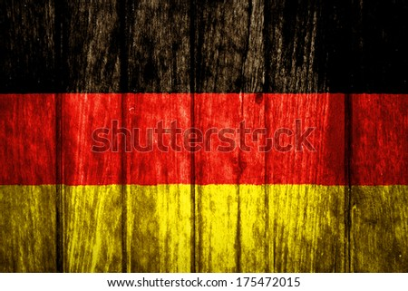 Germany Flag painted on old wood texture - stock photo