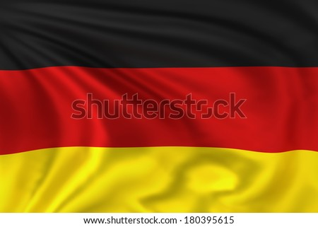 Germany flag waving in the wind. High quality illustration.