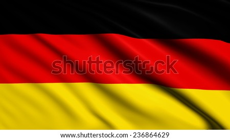 Germany flag with fabric structure
