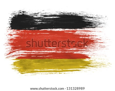 Germany. German flag  on white background