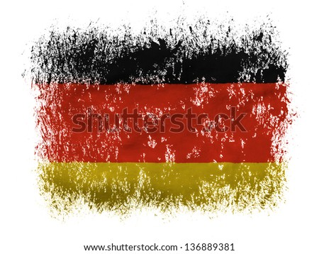 Germany. German flag  on white background - stock photo