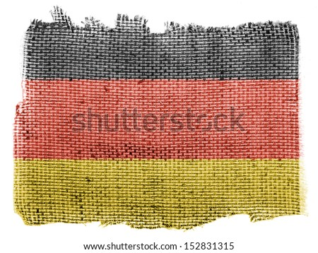 Germany. German flag  piece of fabric - stock photo