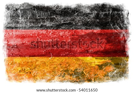 Germany grunge flag - stock photo