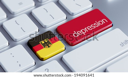 Germany High Resolution Depression Concept - stock photo