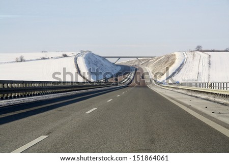 Germany highway - stock photo