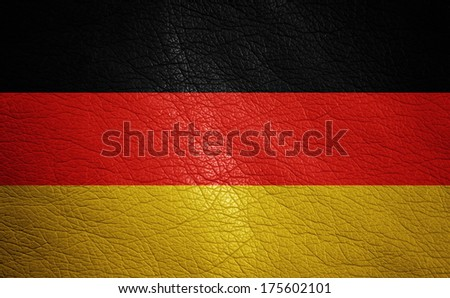 Germany leather textured flag closeup