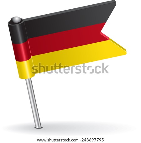 Germany pin icon flag. Raster version - stock photo