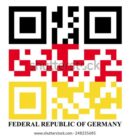 Germany QR code flag - stock photo