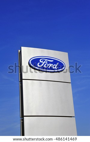 GERMANY SEPT 15 FORD Logo In The Blue Sky On September 152016