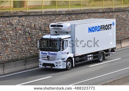 GERMANY - SEPT 22:truck of NORDFROST on the route on September 22,2016 in Germany.